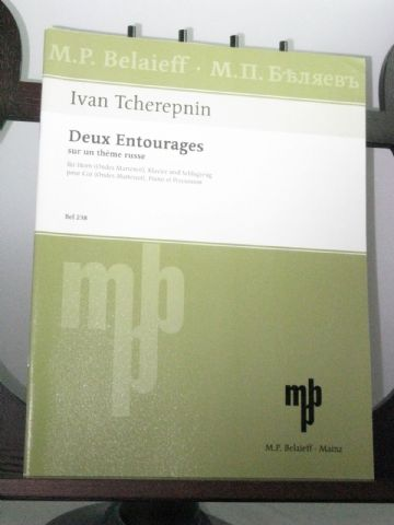 Tcherepnin I - Deux Entourages for Horn Piano & Percussion